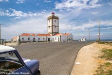 Portugal - Classic Car Road Trip Portugal: In the Mini Authi, we drove to the Lighthouse of Cabo Carvoeiro near Peniche. Cabo Carvoeiro is...