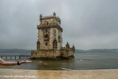 Portugal - Classic Car Road Trip from the Netherlands to Portugal: The Tower of Belém, a fortified tower located in the Belém...