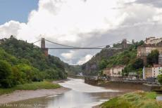 IMM 2019 Bristol - Classic Car Road Trip: The Clifton Suspension Bridge is spanning the river Avon and the Avon Gorge. The bridge was opened in 1864. The bridge...