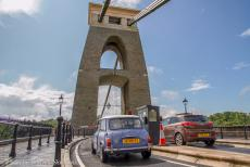 IMM 2019 Bristol - Classic Car Road Trip, IMM Bristol: Our own Mini Authi approaching the toll gate at the eastern end of the Clifton Suspension Bridge. Since the...