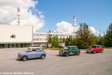 Lithuania 2015 - A Classic Car Road Trip from the Netherlands to Lithuania. The Mini Authi, the Mini MPI and the Mini SPI in front of the...