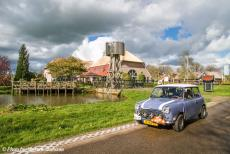 Stuyvesant Tour - StuyvesantTour 2017: Our own Mini Authi parked in front of the so-called Tonmolen, a polder mill. This mill is the only one of...