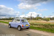 Stuyvesant Tour - Stuyvesant Tour 2017: Our own classic Mini in front of the 'De Wicher', a small drainage mill in the Weerribben-Wieden, a...
