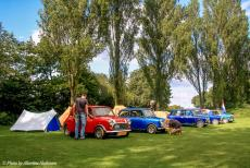 Longbridge IMM - Classic Car Road Trip: Our classic minis in the IMM camping area at Cofton Park in Longbridge,  a district south-west of the city of...
