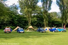 Longbridge IMM - Classic Car Road Trip: Some classic minis at the IMM camping area at Cofton Park in Longbridge, Birmingham. Longbridge is the home of the mini....