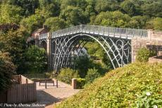 Longbridge IMM - Classic Car Road Trip: The Iron Bridge, one of the most iconic images of Great Britain. The Iron Bridge is the world's first bridge...