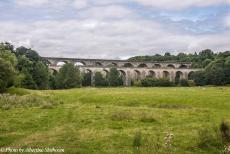 Longbridge IMM - Classic Car Road Trip: The Chirk Aqueduct, behind the aqueduct lies the Chirk Railway Viaduct. The Chirk Aqueduct carries the Llangollen...