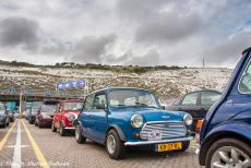 Longbridge IMM - Classic Car Road Trip: One of our classic minis, a Denim Blue coloured Mini 1000 HLE built in 1983, waiting in line at the ferry...
